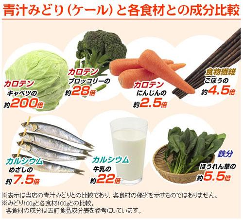遠藤青汁はケール100%の青汁です